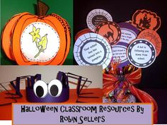 Classroom Halloween crafts and #freebies from http://www.sweetteaclassroom.com/2012/10/eek-my-favorite-halloween-classroom.html