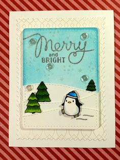 Sunrise Stamper: Holiday Card Workshop - Merry and Bright Card