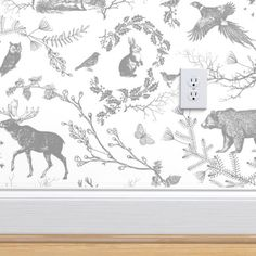 Winter Toile(grey and white) custom wallpaper by nouveau_bohemian for sale on Spoonflower Look Wallpaper, Toile Wallpaper, Wallpaper Panels, Perfect Wallpaper, Textured Wallpaper, Custom Wallpaper, Designer Wallpaper, Textured Walls, Wallpaper Designs