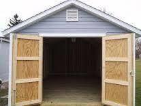 How To Buy Replacement Wood Shed Doors For Your Back Yard Storage Shed Diy Storage Building, Building A Shed, Shed Storage, Built In Storage, Shed Design, Door Design, Build Your Own Garage, Wooden Garage Doors, Shed Doors