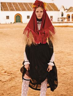 Latin Love: Alisa Ahmann by Giampaolo Sgura for Vogue Germany June 2015 #Seville #Spain