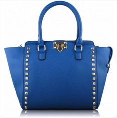 Blue Double- Handle Shoulder Tote Bag Online Fashion Boutique, Womens Fashion Online, Navy Blue Blazer, Gold Studs, Cobalt Blue, Baby Blue, Spring Summer Fashion, Women Jewelry