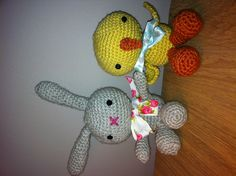 Easter bunny and chick amigurumi