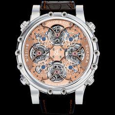 Jacob & Co. Napoleon Quadra Tourbillion QUADTR Titanium Gold Watch