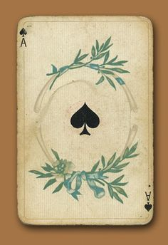 ace of spades - apparently I am developing an obsession for vintage playing cards Tag Art, Illustrations, Illustration Art, Vintage Playing Cards, Playing Cards Art, Vintage Cards, Design Art, Graphic Design, Deck Of Cards