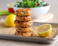 These super juicy, flavour-packed baked Lemon Herb Salmon Cakes started as a craving and turned into a recipe that was even more delicious than I expected!