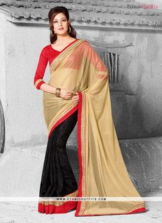 Lovely Georgette Black Designer Saree  Email- support@ethnicoutfits.com Call - +918140714515 What's app/Viber- +918141377746
