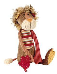 """Wild, snugly mane, trusting gaze. The huggable Sweety lion scores big with his unique combination of materials and designs. Soft cotton corduroy gives him his unique look. Size: 15.7"""" Age: 3-12 Years"""