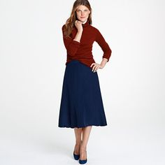 Seriously, JCrew!?!?! After I bought all my skirts, you FINALLY come out with ones long enough!?!?