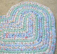 Rag Rug Heart By AmericanRecycle On Etsy, $75.00