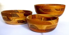 Our nesting bowls are very durable they were handmade out of teak