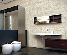 Bathroom Special Textured Paint Travertino Romano Oikos By Italian Design Center Pte Ltd Singapore