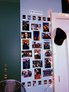 Easy Bedroom Decor Ideas for Teen Girls – Photo Wall Ideas photo collage with led lights Cute Room Ideas, Cute Room Decor, Teen Room Decor, Wall Ideas, College Room Decor, Teen Rooms, Tumblr Rooms, Room Goals, Aesthetic Rooms