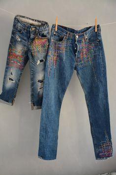 Levis Vintage, Jean Vintage, Patched Jeans, Jeans Denim, Jean Overalls, Diy Jeans, Blue Jeans, Altering Jeans, Redone Jeans