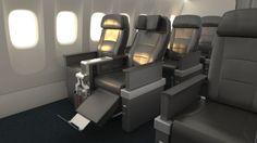 Quem voar deAmerican Airlines a partir de 4 de novembroterá uma nova opção de classe, a Premium Economy,no moderno Dreamliner. Cada assento conta oferece um sistema de entretenimento pessoal com tela sensível ao toque, tomada e entradas USB.