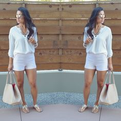 summer fashion outfit ideas- loving the blush pink and cream look