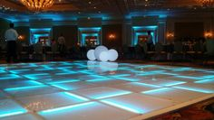 Christmas Party Featuring Maui's only LED Dance Floor, Uplighting and LED Spheres..