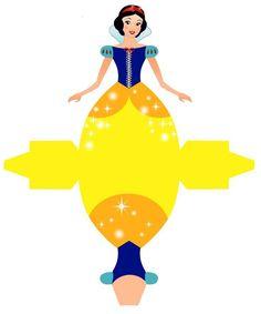 Lindas caixinhas vestidos para você imprimir e usar na sua festa com o Tema Princesas da Disney!