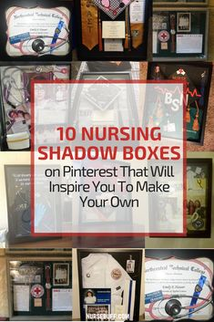 10 Nursing Shadow Boxes on Pinterest That Will Inspire You To Make Your Own #Nursebuff #Nurse #Shadowboxes