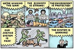 System Is Working horizontal, Andy Singer,Politicalcartoons.com,economy,economic,economics,poverty,wealth,homeless,homelessness,mortgage,banking,banks,crisis,war,wars,military,Iraq,Afghanistan,Syria,Guantanamo,torture,race,racism,police,policing,cop,cops,environment,climate,change,global,warming,torture,greenhouse