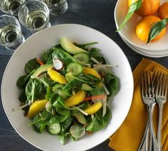 Chilean Orange, Jicama Salad with Lemon-Ginger Dressing. Use fresh Chilean fruit in your recipes! #fruitsfromchile