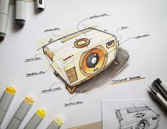 "Cool industrial design pencil sketch awesome check out this behance project ""sketches ance Sketch Design, My Design, Industrial Design Sketch, Sketch Inspiration, Cool Sketches, Machine Design, Copics, Illustrations, Design Process"