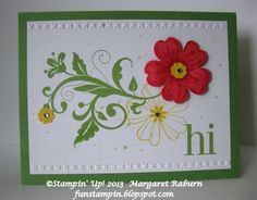 Fun Stampin' with Margaret!: Flowering Flourishes and Flower Shop!