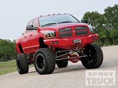 Dodge  big red lifted