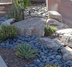 Relaxing Front Yard Rock Garden Landscaping Ideas (16)