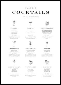 Cocktails Poster - how-to-do Most Popular Drinks - Posterstore.co.uk