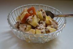 Paleo Apfel-Zimt-Haferflocken - ein unglaublich leckeres Frühstück, das Energie spendet und lange sättigt - ohne Gluten!