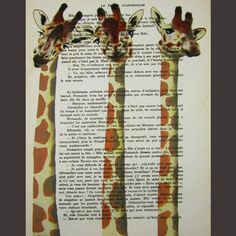 I ordered 5 prints from this artist. All Giraffes, all fantastic. She has lots of whimsical prints, worth looking into.