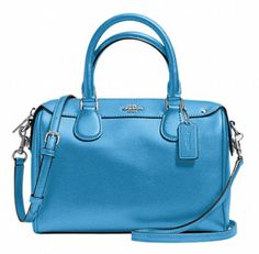Enter To Win A Coach Mini Bennett Satchel Bag in Blue {US CA}... sweepstakes IFTTT reddit giveaways freebies contests