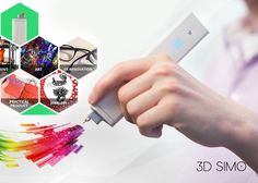 3Dsimo Mini Handheld 3D Drawing And Multifunctional Tool - This provides users with a 3D printing pen, precision solder, burner and cutter all in one. | Geeky Gadgets
