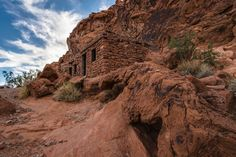 Cabins built during the Depression in Valley of Fire State Park