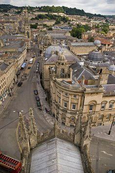 Guildhall And High Street - Bath, England