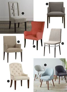 There's something so inviting about upholstered chairs pulled up to the dining room table. Whether you're looking for a pair of host chairs to sit at either end of your table or a full set, below are 20 fantastic options.
