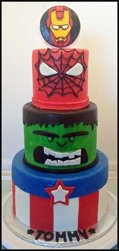 Cake Decorating Ideas Avengers : Avengers Cake Kate s Cakes Pinterest Avenger Cake ...