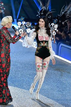 Lady Gaga and Sui He --  the Victoria's Secret Fashion Show 2016 in Paris | British Vogue  #VSFS #VSFS_2016