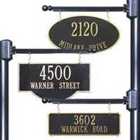 Hanging House Number Signs And Address Plaques At Mailbox Works Dekor