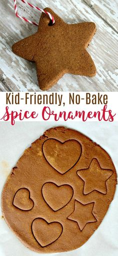 This no bake cinnamon DIY spice ornament recipe will wow the kids and have your house smelling amazing from fall through the holiday season! crafts DIY No-Bake Spice Ornaments Kids Christmas Ornaments, Christmas Crafts For Kids To Make, Holidays With Kids, Homemade Christmas, Diy For Kids, Christmas Fun, Kids Ornament, Scandinavian Christmas, Christmas Cards