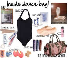 """Inside dance bag!"" by ballerinagal16 on Polyvore"
