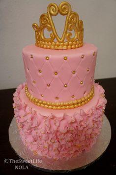 Princess theme bday cake by Nola sweet life bakery www.nolasweetlife.com