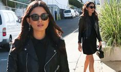 Jessica Gomes oozes street style cool as she slips in LBD