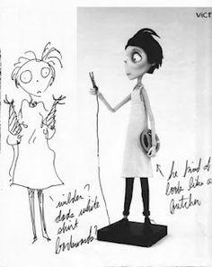 the art of Tim Burton: Photo Style Tim Burton, Art Tim Burton, Tim Burton Artwork, Film Tim Burton, Tim Burton Johnny Depp, Tim Burton Characters, Tim Burton Sketches, Beetlejuice, Nightmare Before Christmas