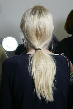 Backstage at Victoria Beckham AW2014. The final hair look by Guido Palau - created using BaByliss PRO tools.
