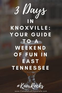 Visit Knoxville: What to See, Eat, Do and Drink in Knoxville's Most Underrated City. There's no denying Knoxville is Tennessee's most underrated tourist destination. It's extremely easy to get around, it's mostly devoid of traffic beyond your standard rush hour, it's affordable, it's family-friendly, pet-friendly and all about the outdoors. Click through to find out why you should make Knoxville, Tennessee your next vacation destination. | Camels and Chocolate #knoxville
