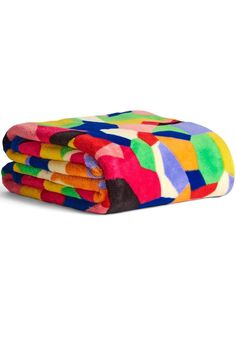 """Grab your favorite book, a cup of coffee and settle in under this lightweight, beautiful blanket. Super soft and colorful as can be, it's covered in oversized design on both sides. The 100% polyester micro-fleece is washable and lightweight.    Dimensions 50"""" W x 80"""" H   Throw Blanket by Vera Bradley. Home & Gifts - Home Decor - Pillows & Throws Wisconsin"""