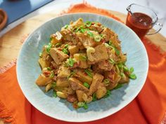 Get Grilled Barbecue Potato Salad Recipe from Food Network
