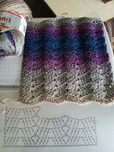 Incredibile Crochet Ripple Stitch Patterns ⋆ Crochet Kingdom Schemi di punti a increspatura all'unc. Crochet Scarf Diagram, Crochet Stitches Chart, Gilet Crochet, Crochet Ripple, Crochet Motifs, Crochet Blanket Patterns, Crochet Scarves, Crochet Lace, Stitch Patterns